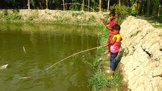 Best Fishing Video | Kids Fishing By Daily Village Life (Part-25)