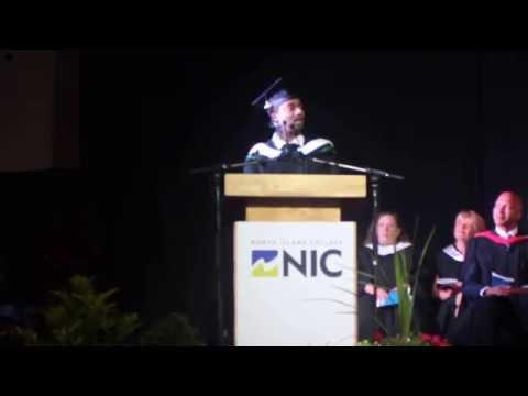 Best Valedictorian speech  at North Island College in 2016