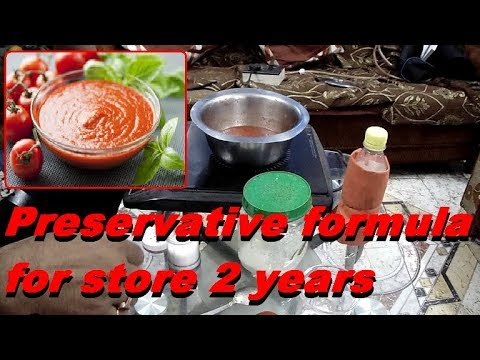 How to make tomato catchup and preserved for two years. How to preserved your tomato catchup.