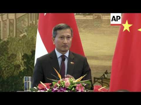 China, Singapore FMs meet in Beijing
