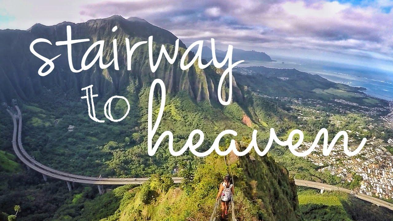 Oahu Hawaii Stairway To Heaven Haiku Stairs 2016 Youtube