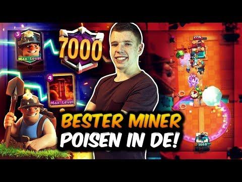 BESTER MINER POISON SPIELER DEUTSCHLANDS?! | 7000+ TROPHÄEN DOMINANZ! | Clash Royale Deutsch