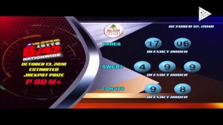 [LIVE] PCSO Lotto Draws  -  October 12, 2018  9:00PM