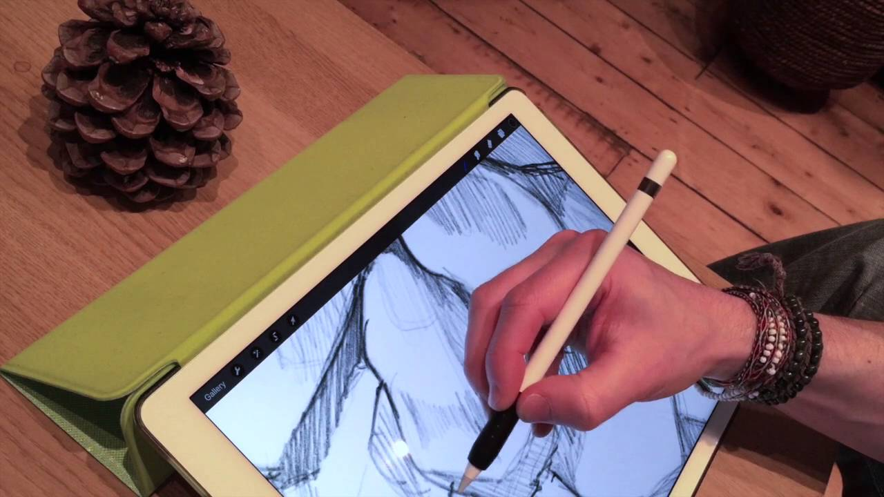 Review Of Artist Design : Apple pencil drawing demo on ipad pro and artist s