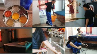 Indian Mom Cleaning Routine 2019 | House Cleaning | Indian Vlogger mahika