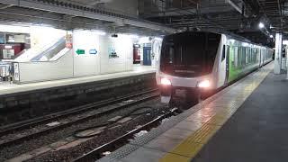 JR東日本HB-E300系「快速リゾートビューふるさと」が長野駅ホームから回送