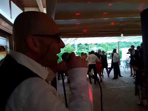 Animazione matrimonio Roberto canta Gloria di Umberto Tozzi