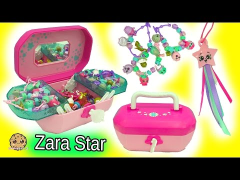 Shopkins Jewelry Box 18 Exclusive Shopkins Charms + Season 6 Zara Star + Crystal Surprise
