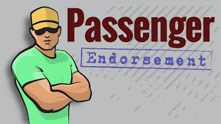 CDL Permit: PASSENGER Endorsement