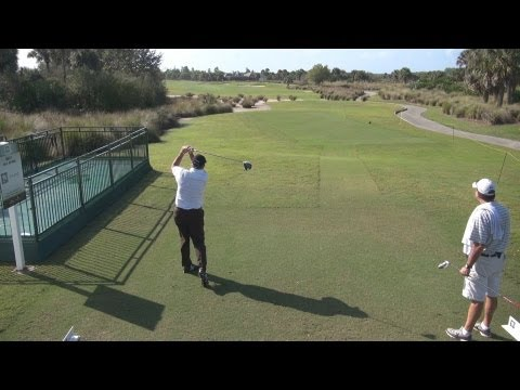 GOLF SWING 2013 - ALLEN DOYLE DRIVER - ELEVATED DOWN THE LINE & SLOW MOTION - HQ 1080p HD