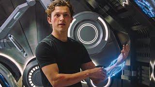 Питер Паркер создаёт себе новый костюм Человек Паук Вдали от дома 2019