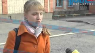 В Южноуральске горит помещение школы