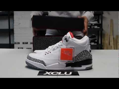 4195b236a9a Air Jordan 3 Retro 88s - White Cement - Unboxing Video at Exclucity
