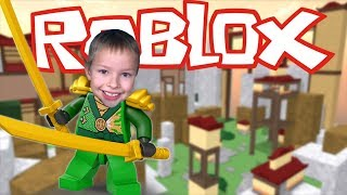 Great Sword Battle! -Roblox #4-Be a Parkour Ninja! [Xbox One]