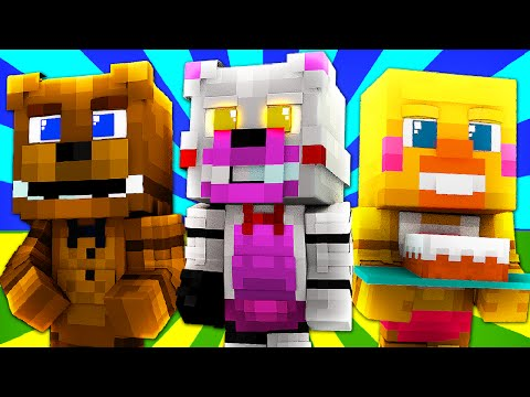 FNAF World - FUNTIME FOXY! (Minecraft Roleplay) Night 9