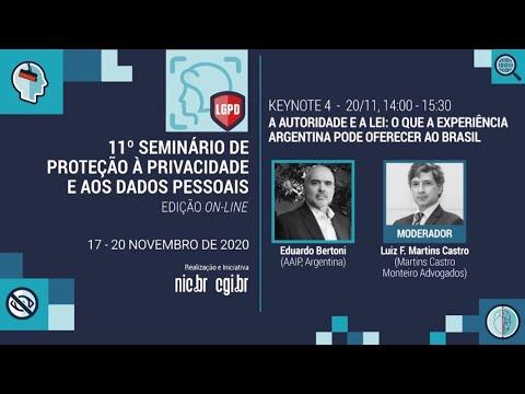 [11° Seminário de Privacidade] A autoridade e a lei: o que a experiência argentina pode oferecer ao Brasil (Espanhol)