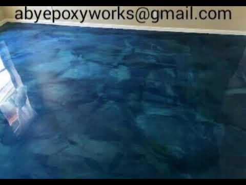 DIY epoxy designe painting works...amazing floor and kitchen slab