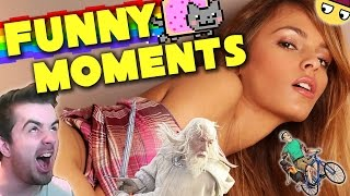 FUNNY MOMENTS!! NAKED GIRLS, HAPPY WHEELS, MINECRAFT, FIVE NIGHTS AT FREDDY'S AND MORE!!