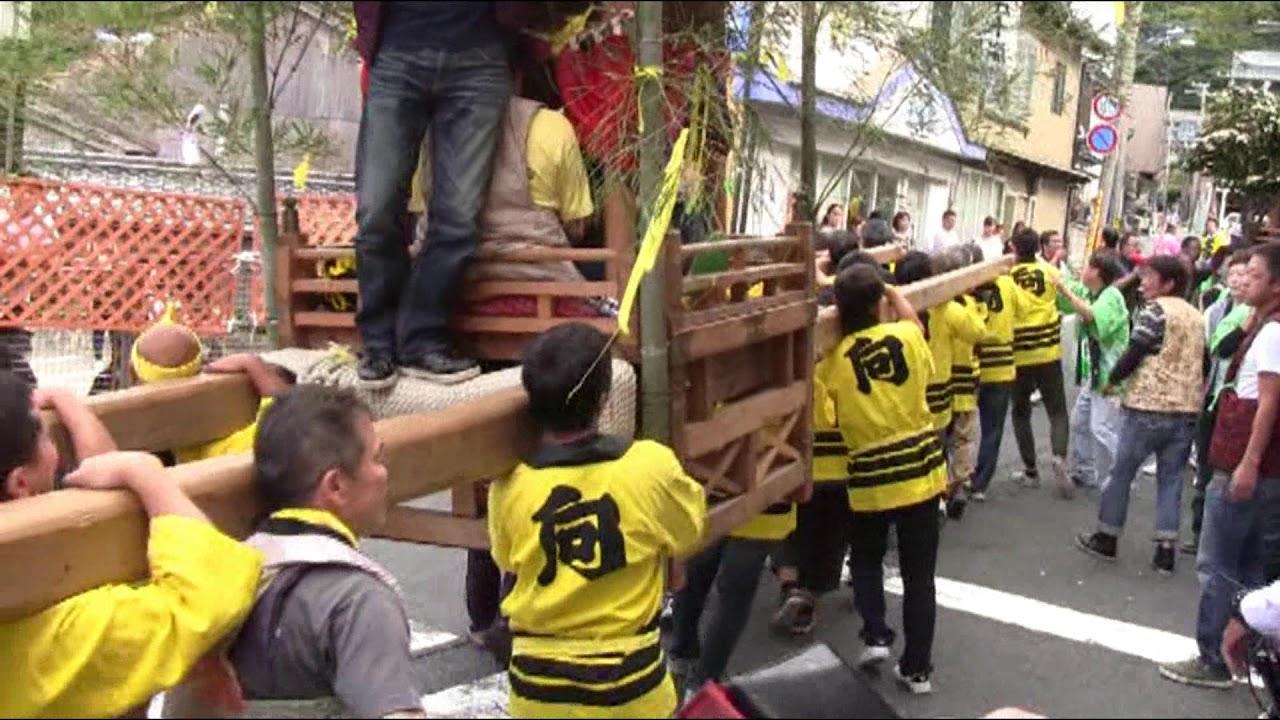 2017 間人 けんか屋台 祭り 向地...