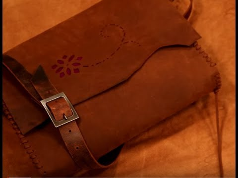 Making a Rustic Leather Laptop Bag