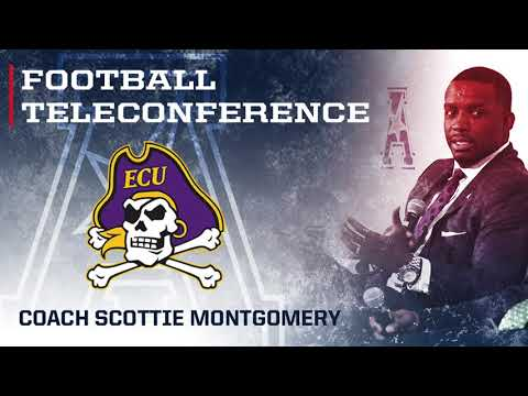 2017 Football Teleconference Week 9 - ECU Head Coach Scottie Montgomery