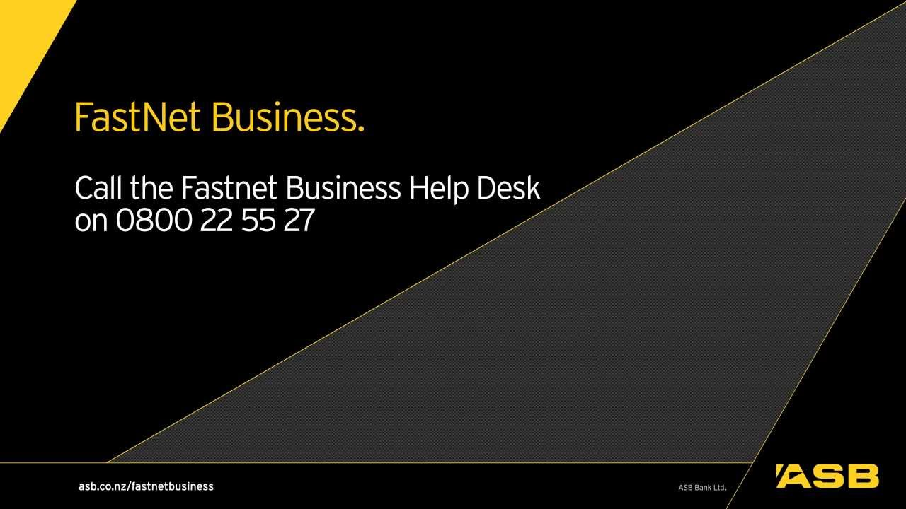Making payments with ASB FastNet Business