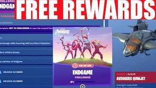 FREE Avengers End Game REWARDS! Fortnite END GAME CHALLENGES (Endgame LTM!)