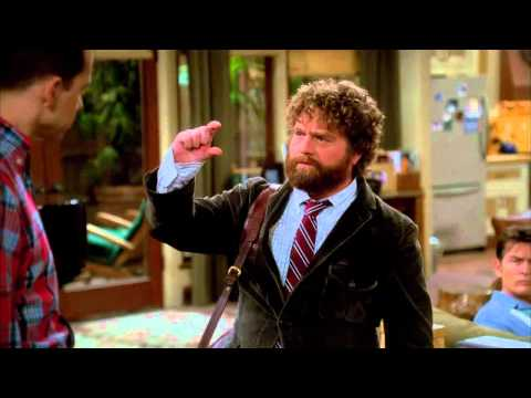 The Complete Two and a Half Men Scene - Due Date Zach Galifianakis