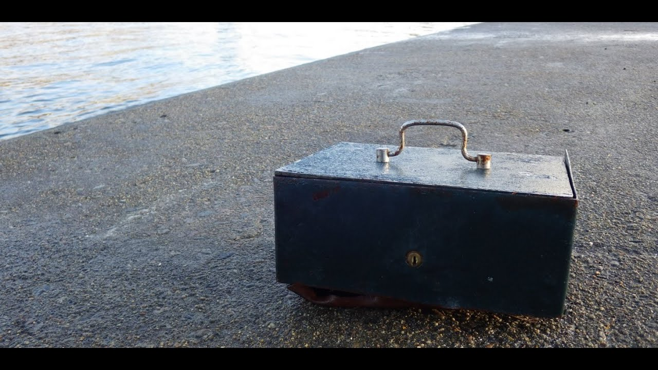 Magnet fishing military safe with ammunition youtube for Magnet fishing tips