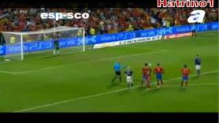 Spain 3 - 1 Scotland - Euro 2012 Qualifying Highlights All Goals 11-10-2011