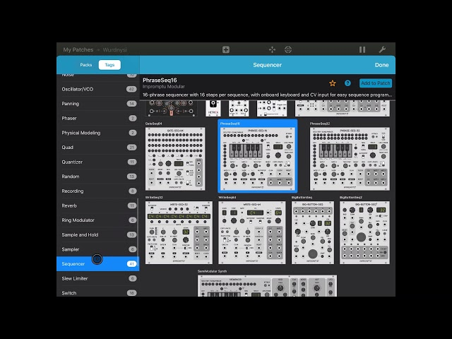 miRack - Tutorial: Sampler as a wave synth