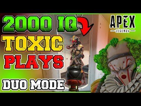 TOXIC 2000 IQ CAUSTIC TROLLING PLAYERS  (NEW DUO MODE) : APEX LEGENDS SEASON 3 Glitch KEVTHEKING99