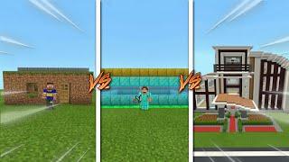 🏠 Los PANAS vs Los PIBES vs Los CABALLEROS - Como Construir Una Casa En Minecraft 2 🏠 #Shorts