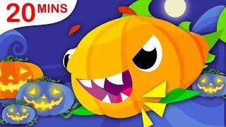 Baby Shark Halloween | Cinderella | Puppies & Humpty Dumpty Songs by Little Angel