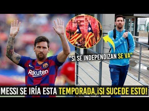 ¡ATENCIÓN! MESSI SE IRÍA DEL BARCELONA ESTA TEMPORADA, ¡SI ESTO PASA!  😱