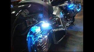 Honda Valkyrie Rune led strobe and led under bar tuning
