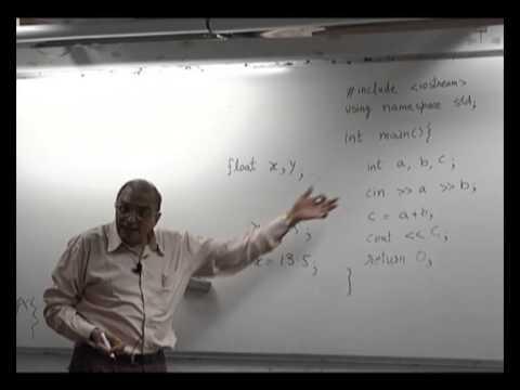 Basic concept on C++ i Hindi by D. B. Phatak Sir (IIT BOMBAY)
