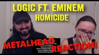 Homicide - Logic ft. Eminem (REACTION! by metalheads)