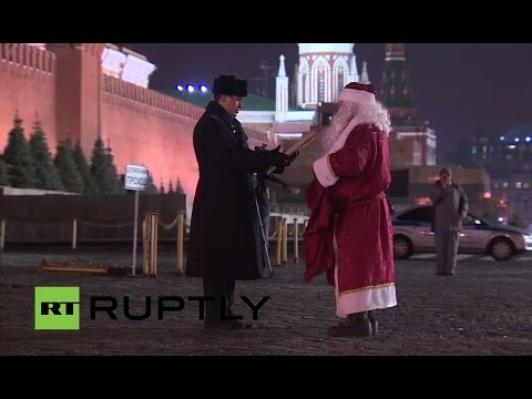 LIVE: Kremlin Christmas tree arrives in Cathedral Square