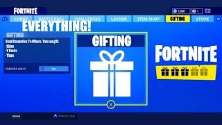 FORTNITE GIFTING SYSTEM IS OUT!! (FORTNITE BATTLE ROYALE) LISPY JIMMY!
