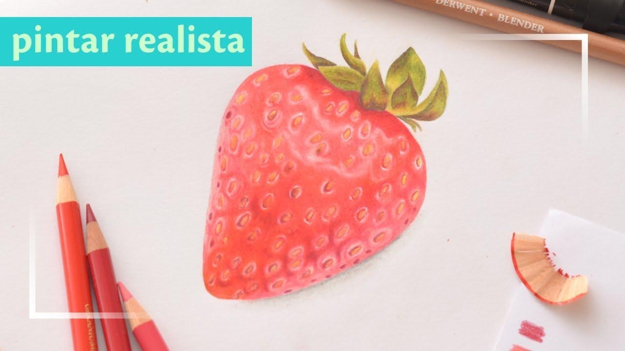como pintar realista con lapices de colores  YouTube