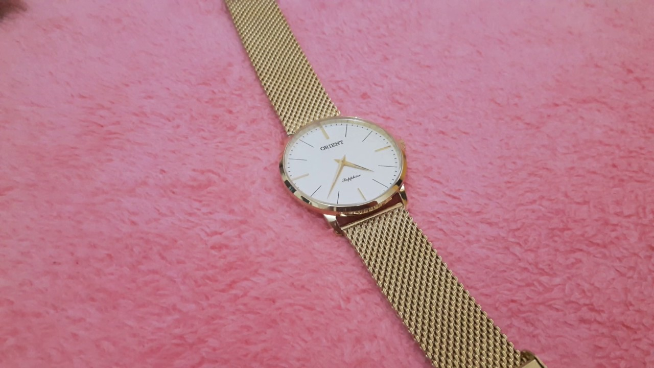 d19e163aaeb Relógio Orient Sapphire Slim (MGSSS005 S1KX). - YouTube