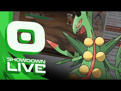 """Enter Mega Sceptile"" Pokemon Sun & Moon! OU Showdown Live w/PokeaimMD"