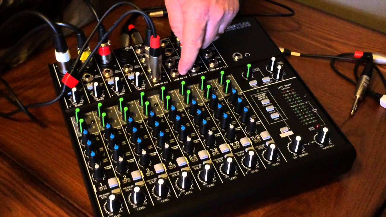 How To Set Up Use A Mackie 1202 Vlz4 Mixer For Podcasting Youtube Wiring Diagrams