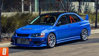 Building a Mitsubishi Lancer EVO VIII in 12 minutes! (COMPLETE TRANSFORMATION)