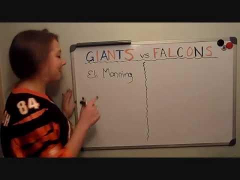 dumb blonde football- 2011-2012 NFL playoffs giants vs falcons