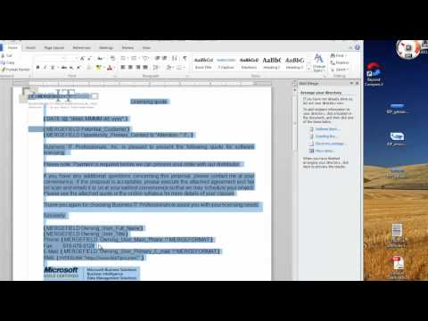 CRM 2011 quote template spacing tricks
