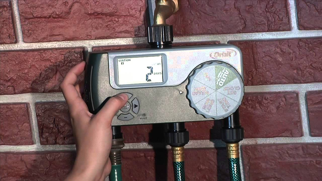 How To Program an Orbit 3-Outlet Hose Faucet Timer - YouTube