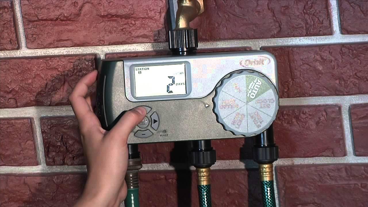 how to program an orbit 3 outlet hose faucet timer