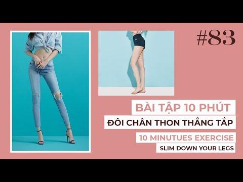 Bài 83   10 phút giúp ĐÔI CHÂN THON THẲNG TẮP   Exercises to Slim Down Your Legs In Just 10 Minutes